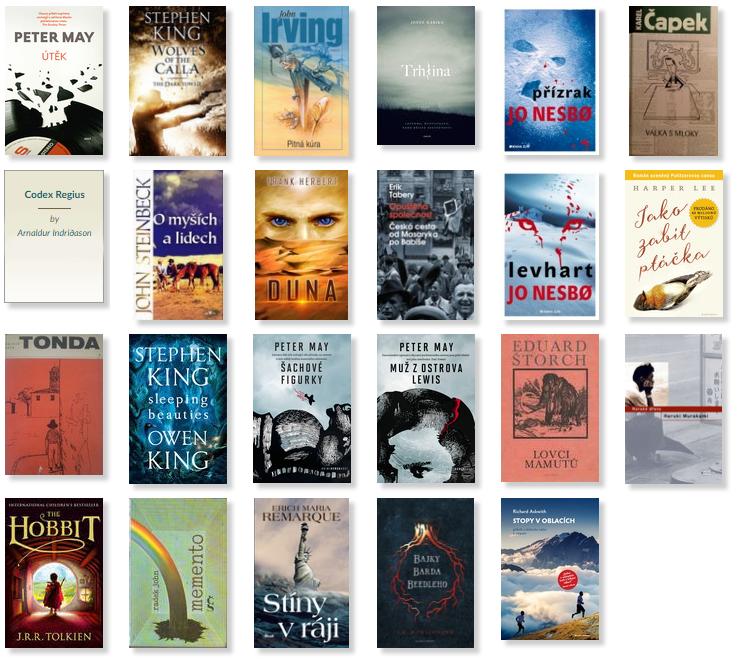 Knihy přečtené v roce 2018