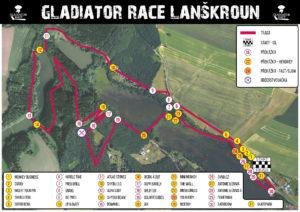 Mapa Gladiator Race Lanškroun 2020