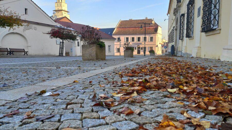 Lidé opustili ulice a jejich místo převzalo listí.
